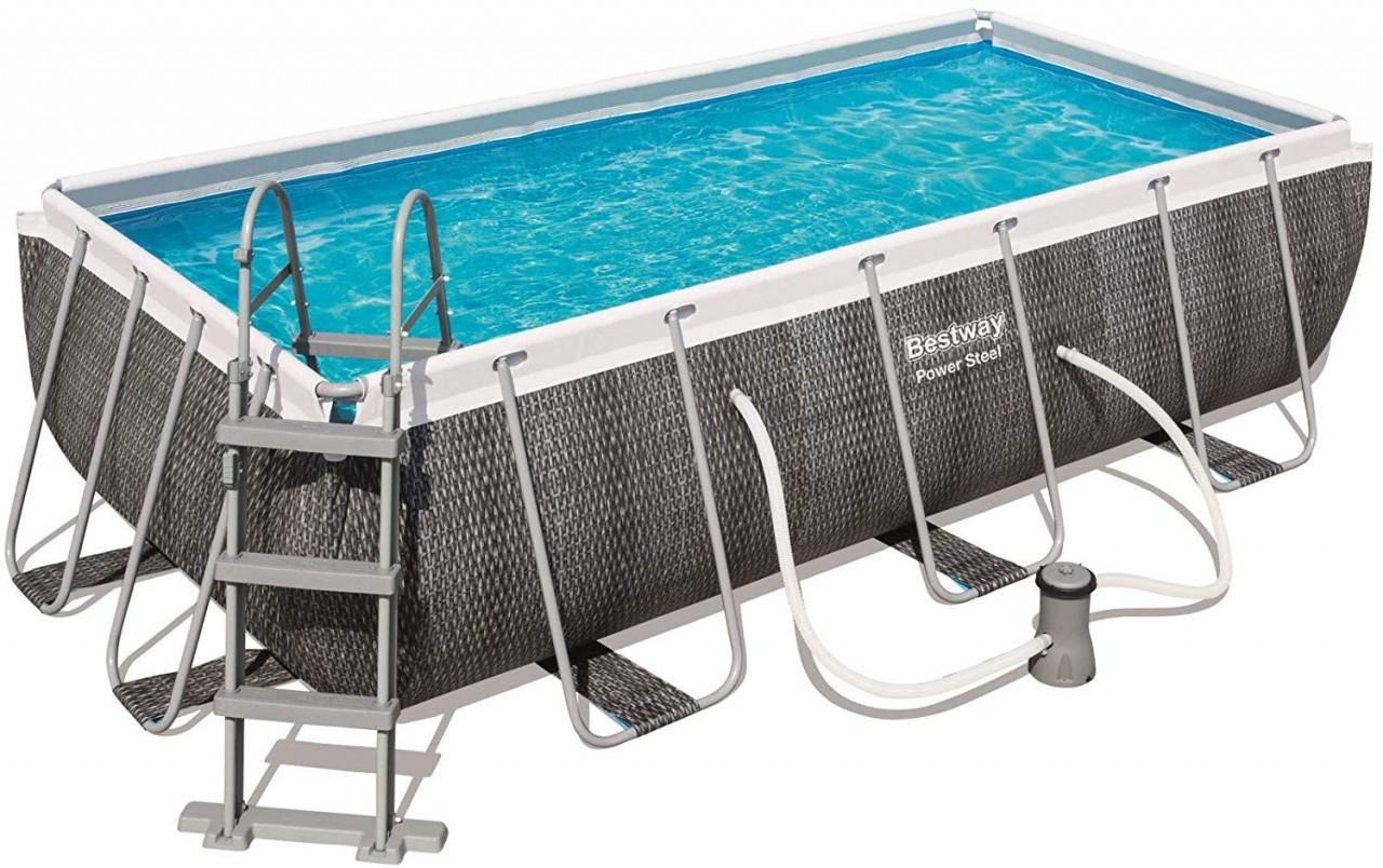 Bestway Frame Pool Set 404 x 201 Rattan 56721