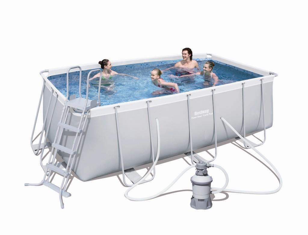 Bestway Frame Pool Set 412 x 201 mit Sandfilter 56457