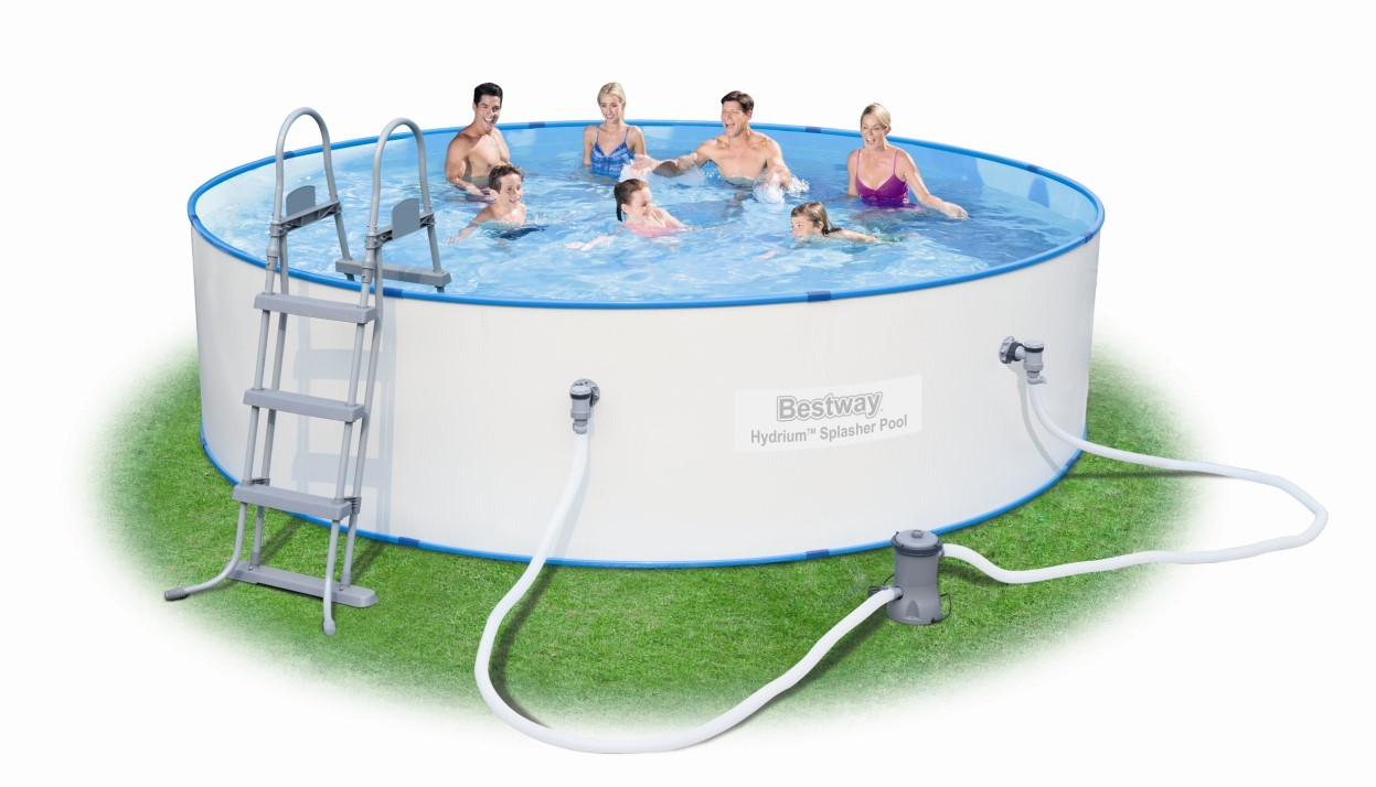 Bestway Stahlwandpool Set HYDRIUM Splasher 460x90 56386