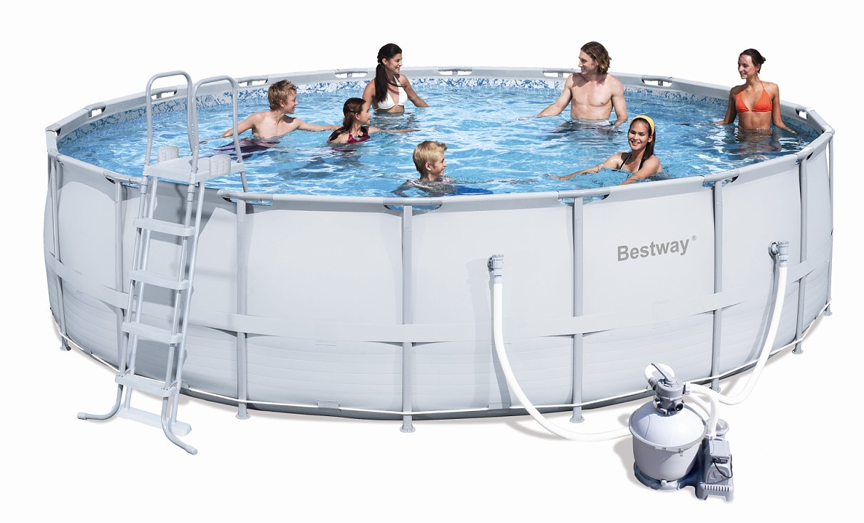 Bestway Steel Pro Pool Set 549x132 mit Sandfilter 56464