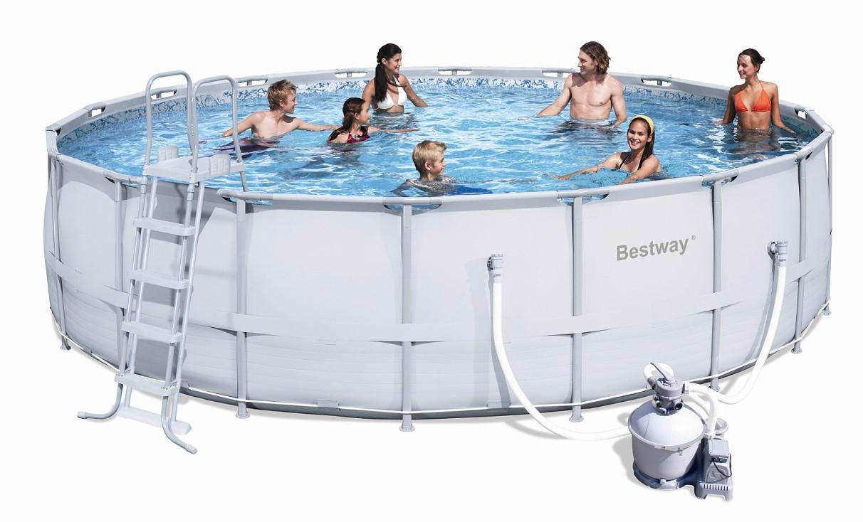 Bestway Steel Pro Pool Set 549x132 mit Sandfilter 56464