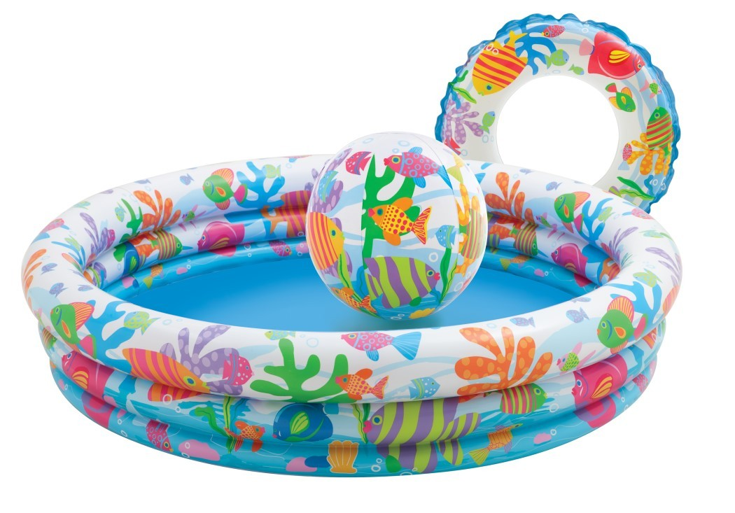 INTEX 3-Ring Poolset + Wasserball + Schwimmring 59469
