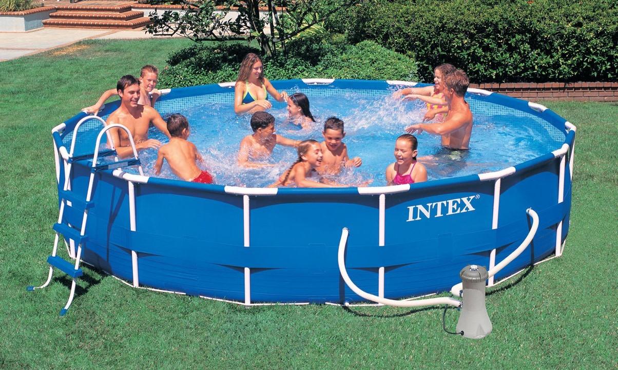 Intex Metal Frame Pool Komplett Set 457x84 ECO 28228
