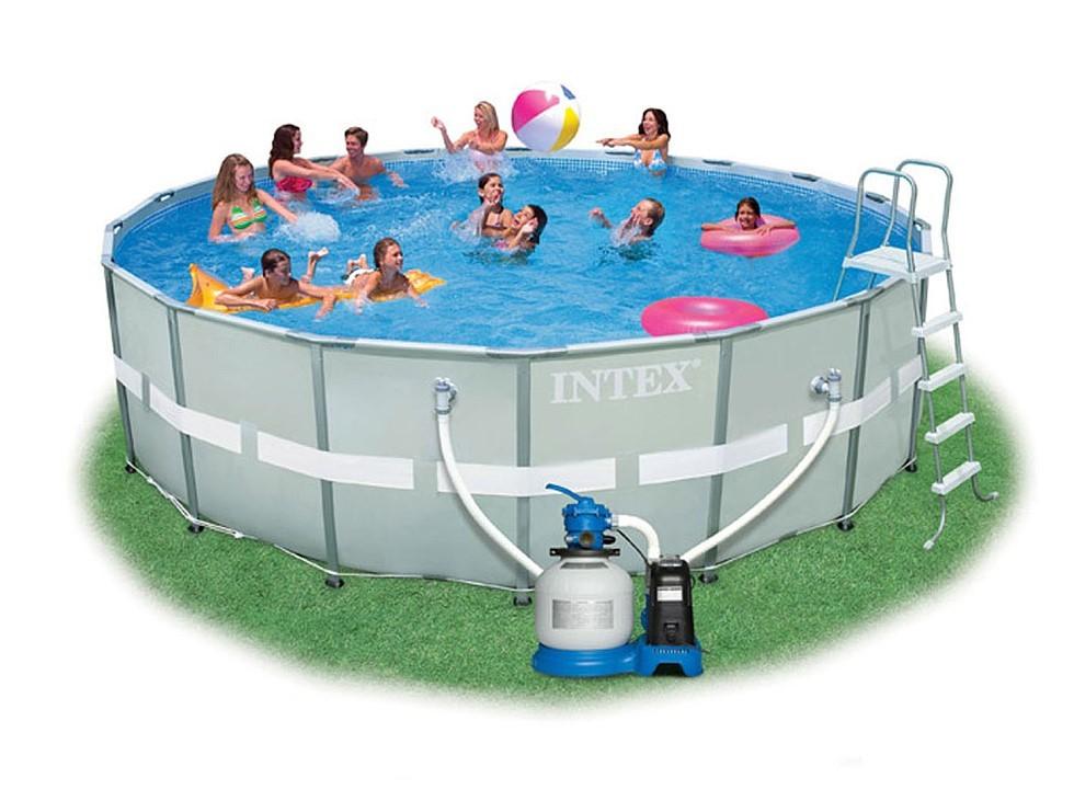 Intex Ultra Frame Pool Komplett-Set 549x132 + Chlorinator 26336
